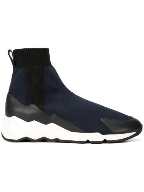 Pierre Hardy Flash Comet Sneakers - Blue