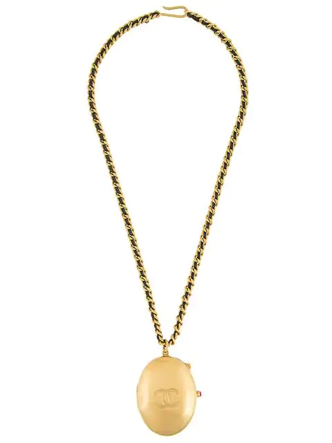 Chanel 1994 Cc Necklace In Gold