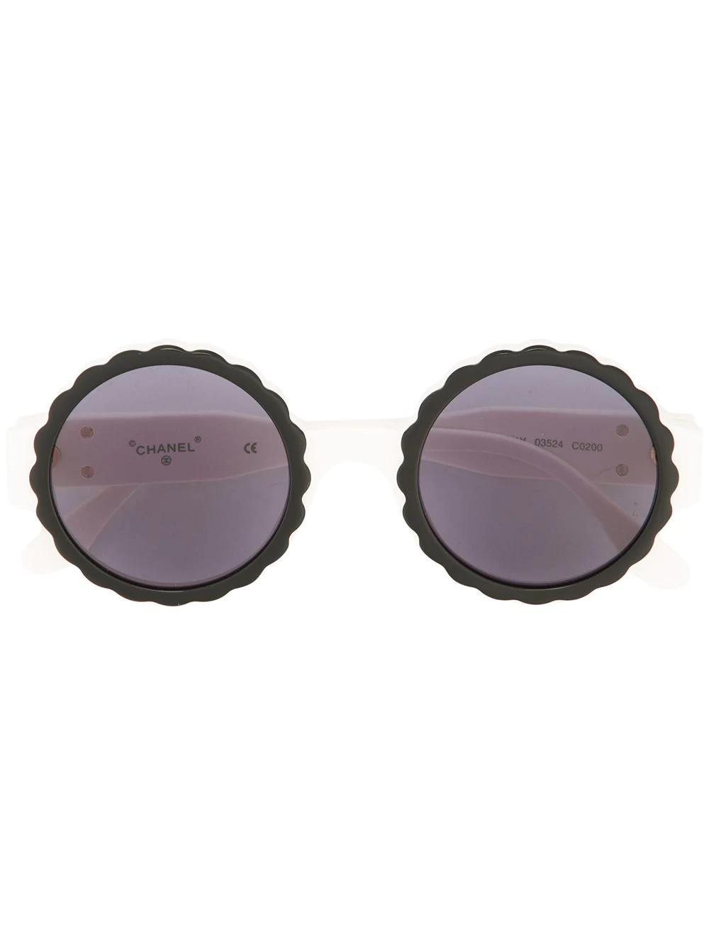 Chanel Sunglasses Eye Wear In White