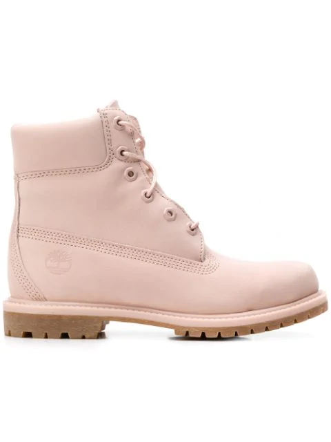 Timberland Lace-up Boots - Pink