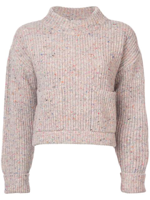 Philosophy Di Lorenzo Serafini Loose Knit Sweater In Neutrals