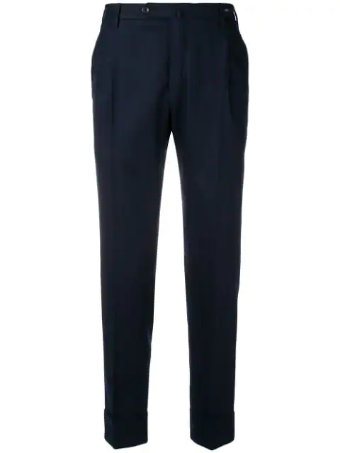 Pt01 Flicker Straight Trousers - Blue