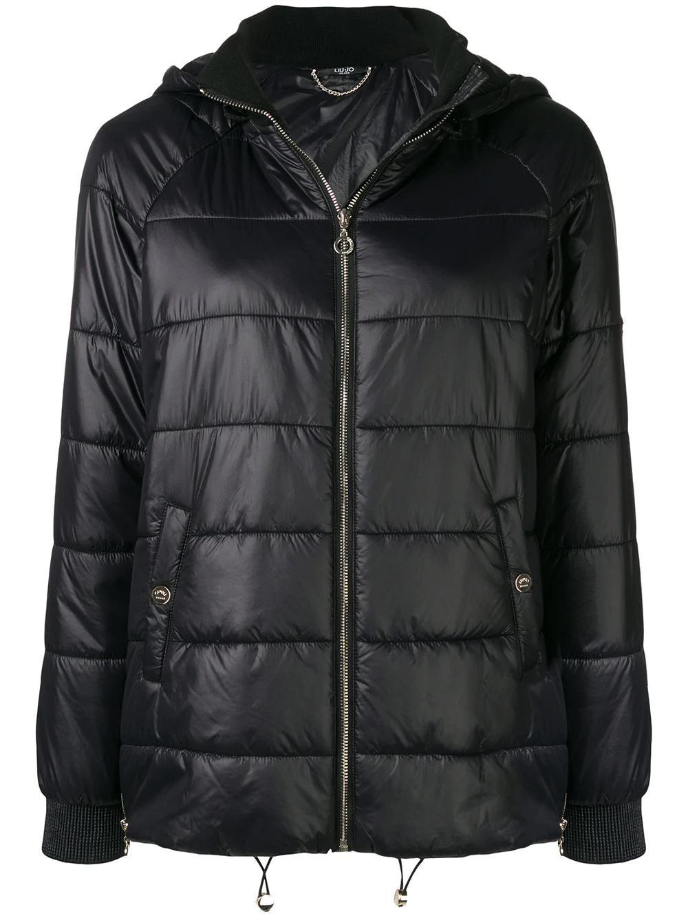 56950bb44b Liu •Jo Hooded Puffer Jacket In Black | ModeSens