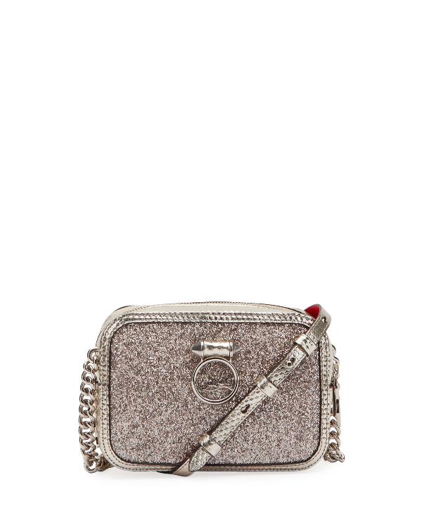 abf039a6340 Rubylou Mini Glitter Cubiste Crossbody Bag in Silver