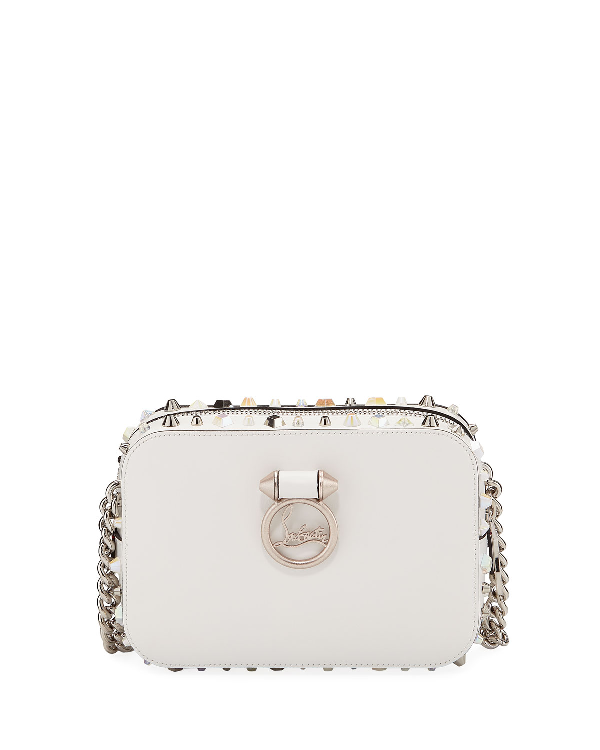 2cecca0efc2 Rubylou Mini Calf Crossbody Bag With Trashmix Hardware in White Pattern