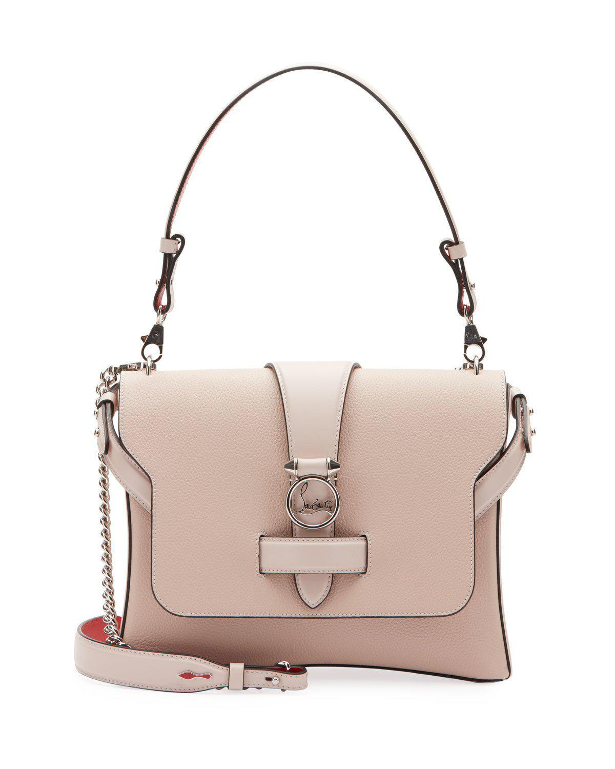 Ruby Lou Medium Calf Empire Shoulder Bag In Pink