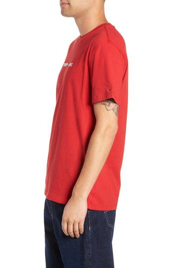 7eabaa10 Tommy Jeans Small Text Embroidered T-Shirt In Samba | ModeSens