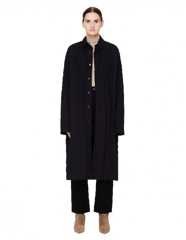 Yohji Yamamoto Black Double Layered Coat