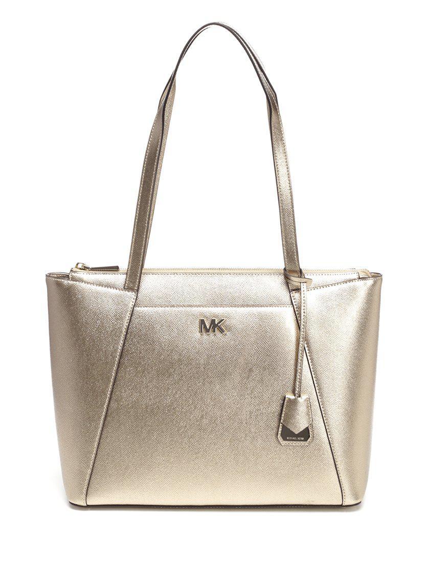 d6c78a1a6 Michael Michael Kors Maddie Medium Tote Bag In Gold | ModeSens