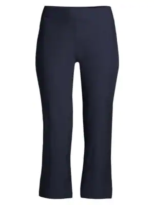 ed1c8b574d Eileen Fisher Crop-Flare Washable Crepe Pants, Regular & Petite In Midnight