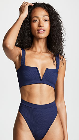 L*space Lee Lee Bikini Top In Midnight Blue
