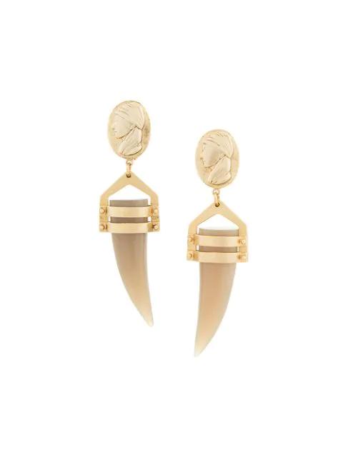 Muller Of Yoshiokubo Georgia Earrings In Gold