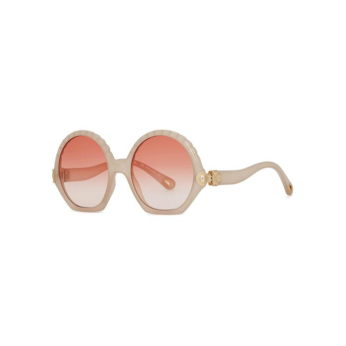 0f900d44b ChloÉ Vera Oversized Sunglasses In White | ModeSens
