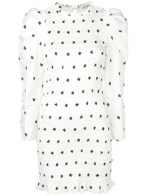Ulla Johnson Aurele Taffeta Dress In White