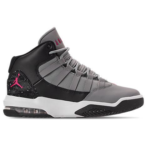 efe378c0cf Nike Girls' Grade School Jordan Max Aura Basketball Shoes, Grey ...