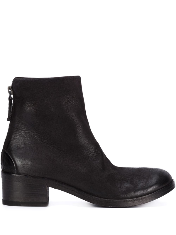 Marsèll Black Leather Horse Resin Boot