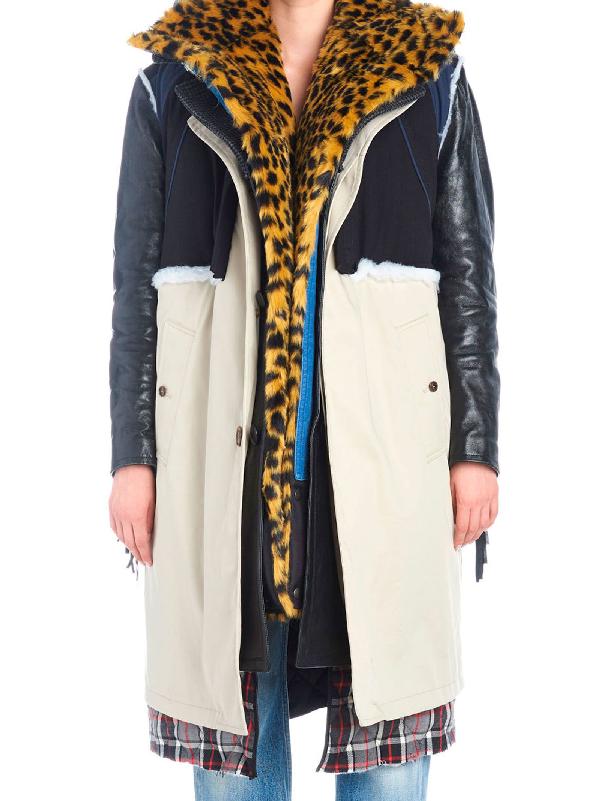 Balenciaga Layered Coat In Multicoloured