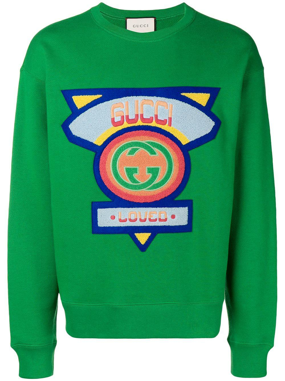 8abecba9370 Gucci Sweatshirt With  80S Patch - Farfetch In Pink