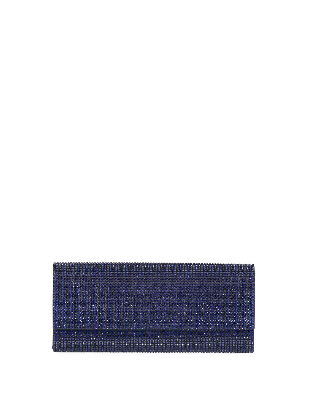 920d85a95da Judith Leiber Ritz Fizz Crystal Clutch Bag, Indigo | ModeSens
