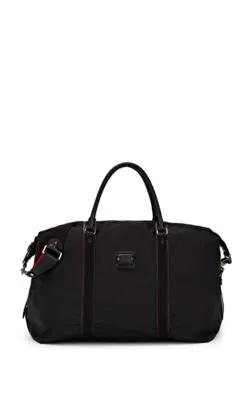 Christian Louboutin Men's Paris Loubicity Nylon & Calf Leather Weekender Bag In Black