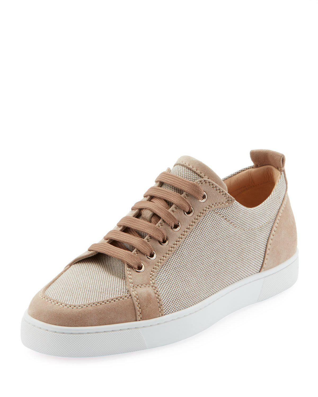 quality design 64ca9 314b3 Men's Suede-Trim Low-Top Canvas Sneakers in Brown