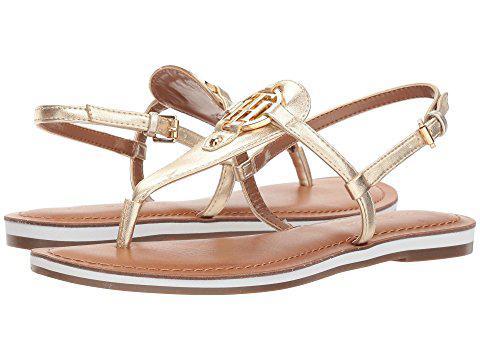 buy popular uk availability save up to 80% Tommy Hilfiger Genei, Gold Leather | ModeSens