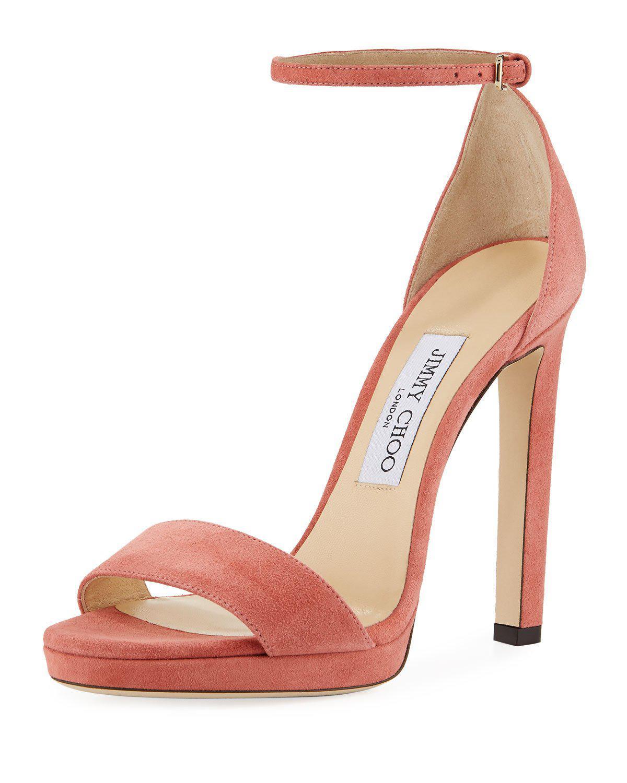 6537ff82ab5 Jimmy Choo Misty Suede Platform Sandals In Rosewood