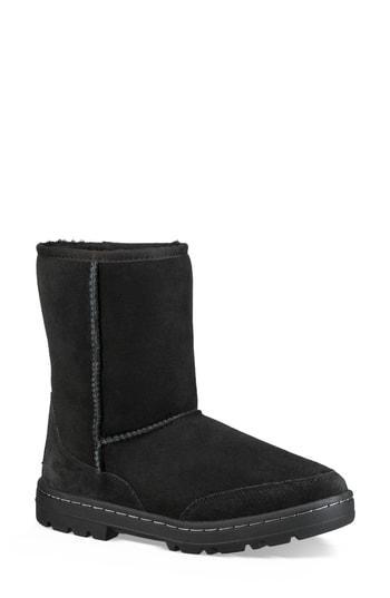 5ab3ca02e04 Ugg Ultra Revival Genuine Shearling Short Boot in Black