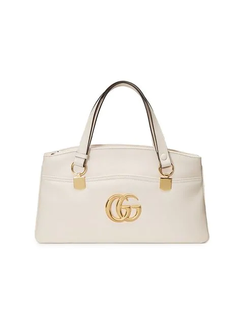 462983bdef4b Gucci Arli Large Top Handle Bag In 9022 White | ModeSens