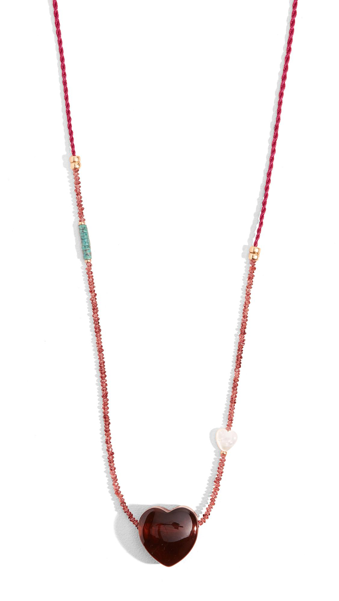 Lizzie Fortunato Gemini Necklace In Tortoise/Magenta