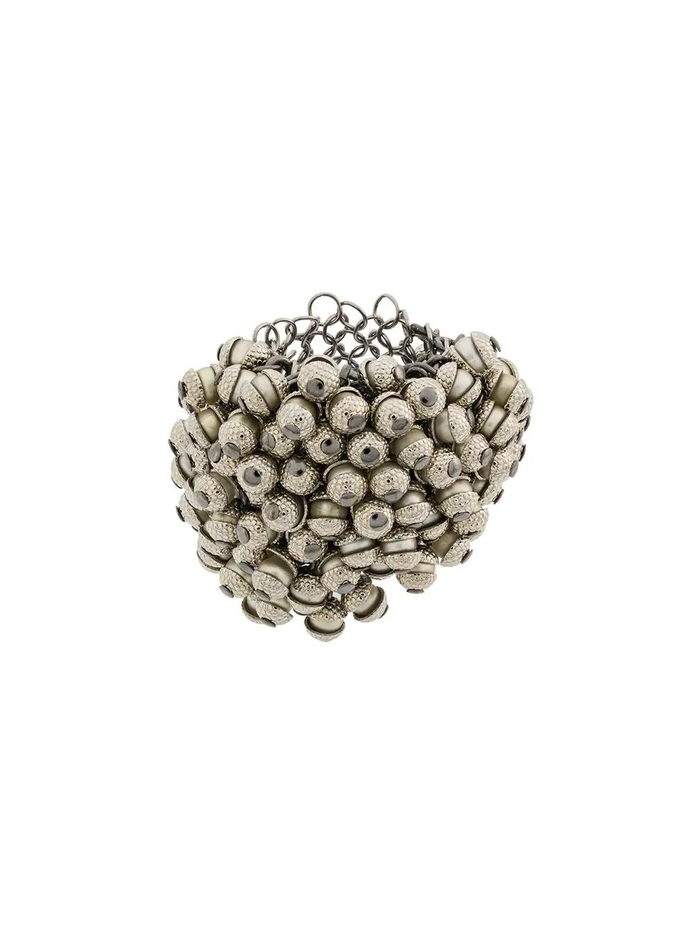 Marc Le Bihan Beaded Ring - Silver