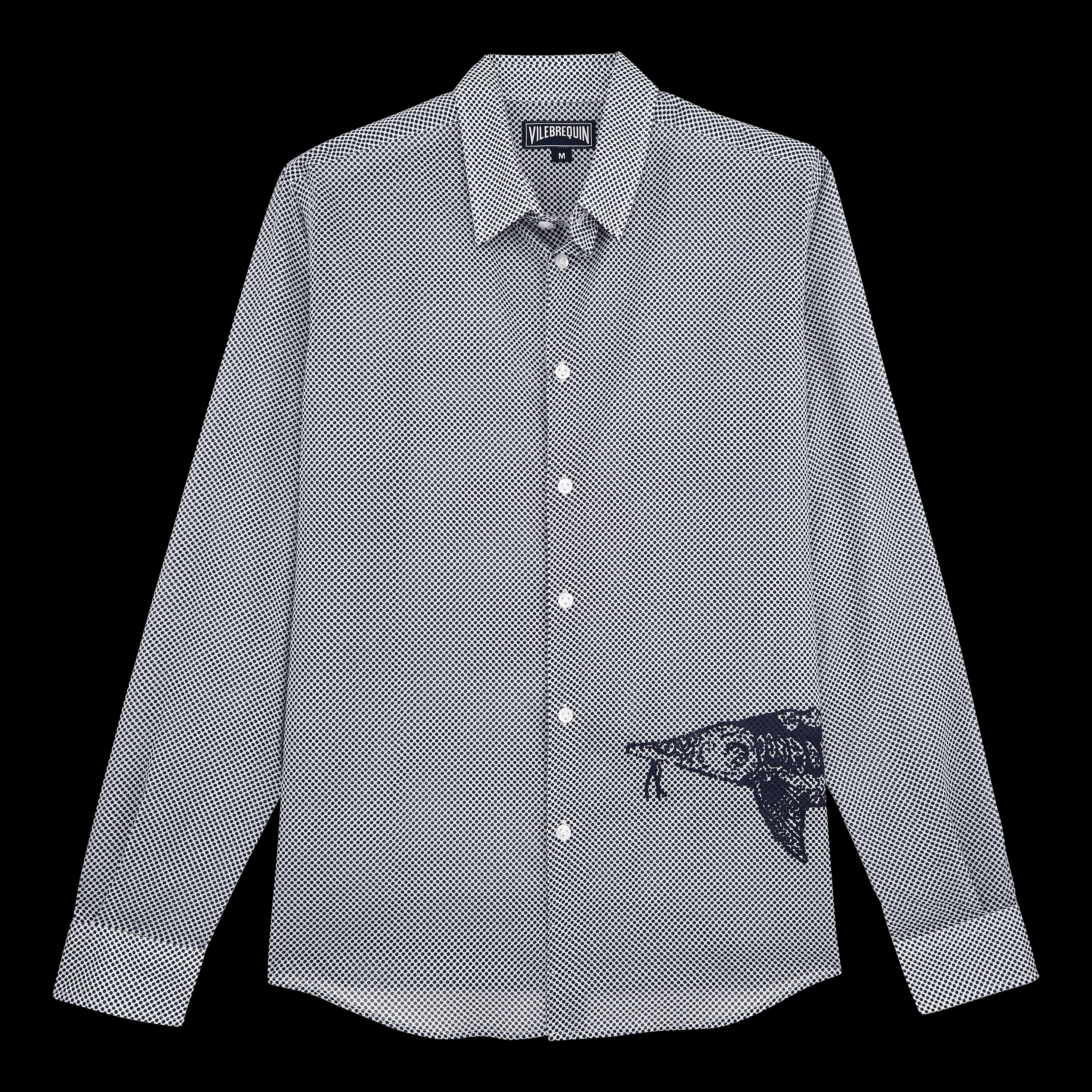 Vilebrequin Pap Unisexe Adulte - Unisex Cotton Voile Shirt Belle Ou Gars - Shirt - Caracal In White