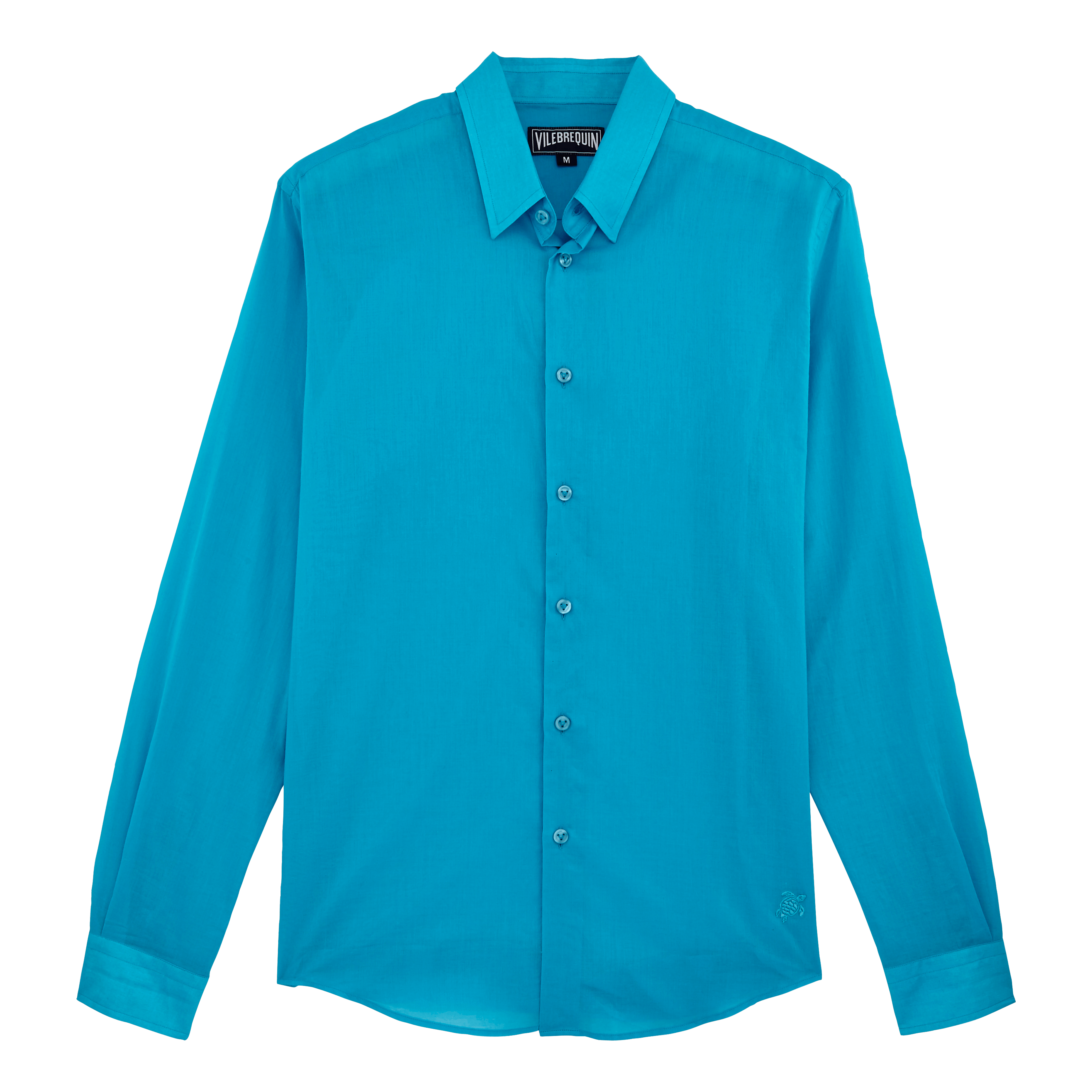 Vilebrequin Pap Unisexe Adulte - Unisex Cotton Shirt Solid - Shirts - Caracal In Blue