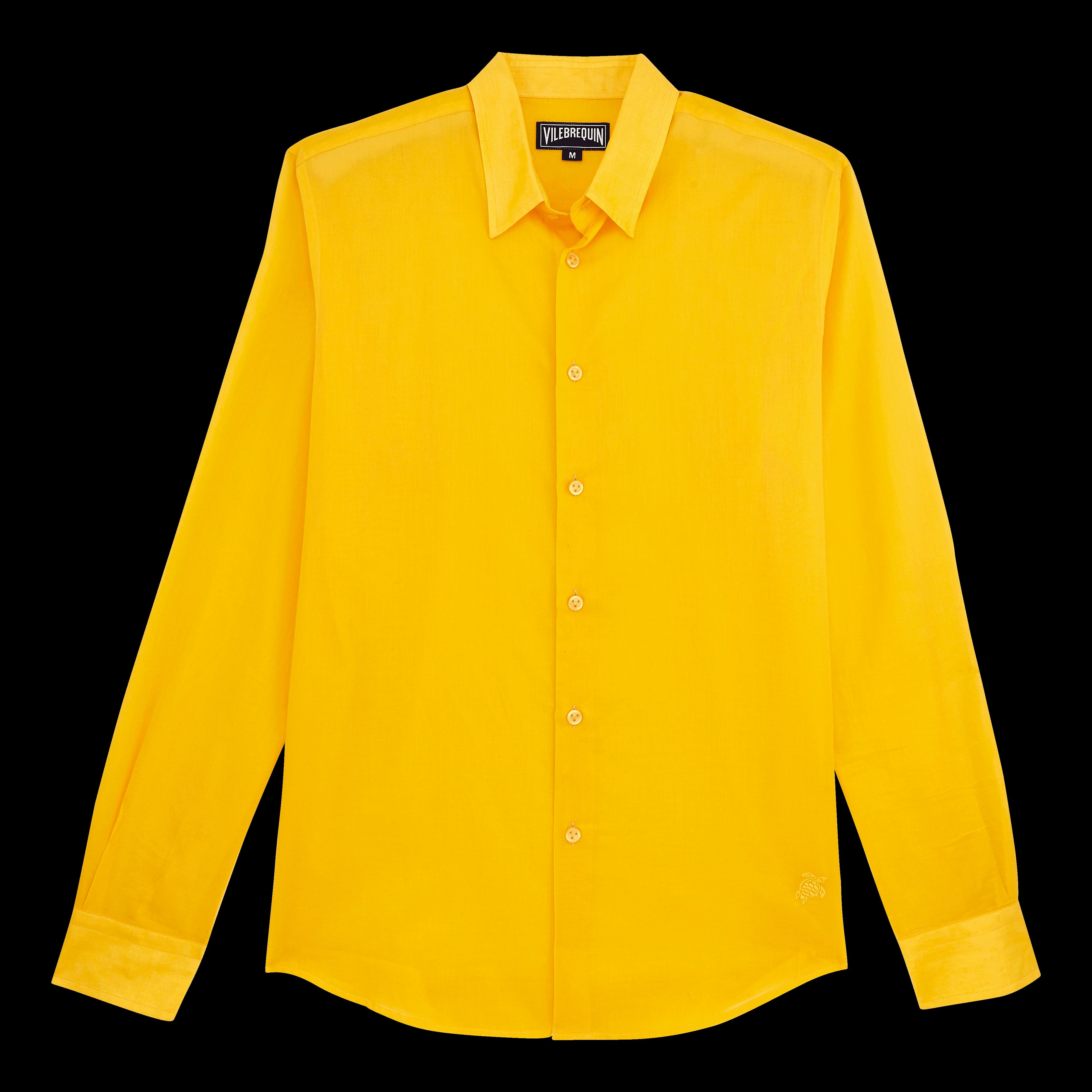 Vilebrequin Pap Unisexe Adulte - Unisex Cotton Shirt Solid - Shirts - Caracal In Orange