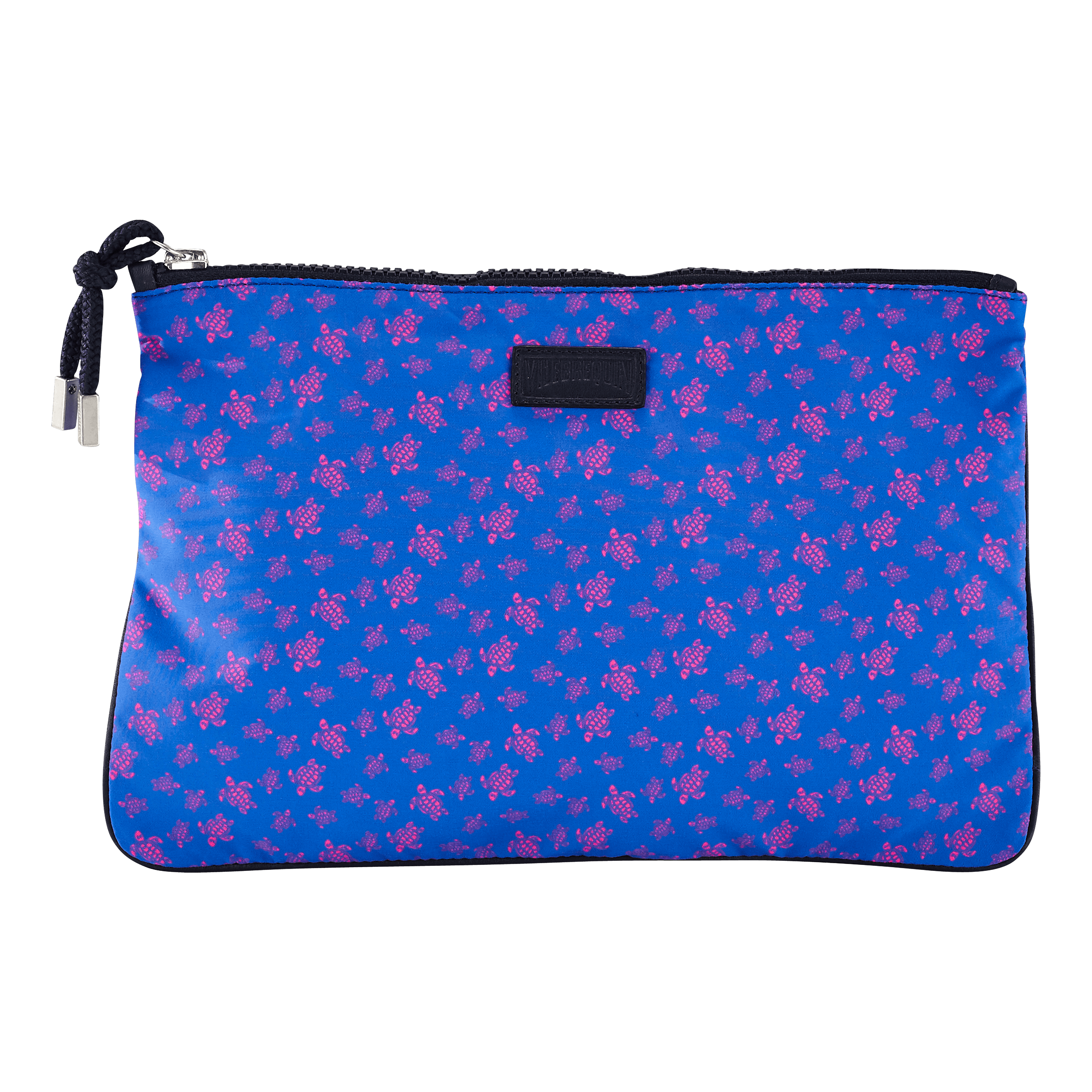 Vilebrequin Beach Pouch Micro Ronde Des Tortues In Blue