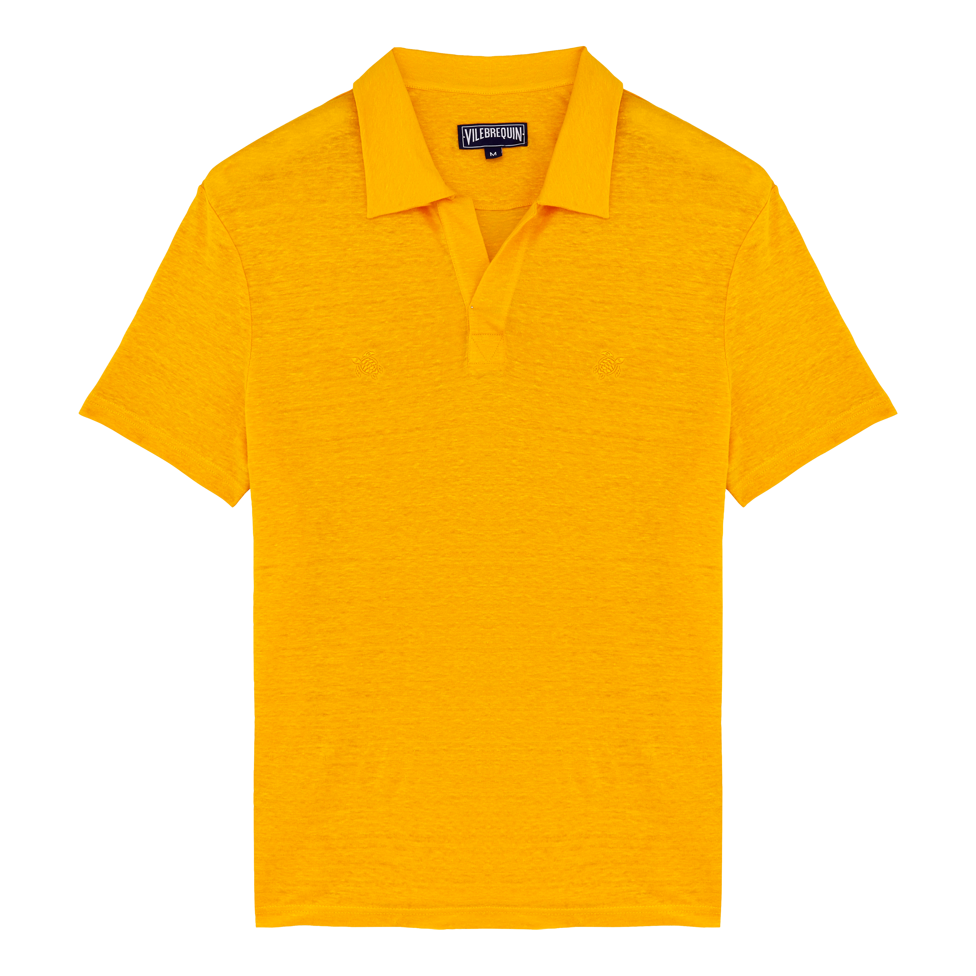 Vilebrequin Men Ready To Wear - Men Linen Jersey Polo Shirt Solid - Polos - Pyramid In Orange