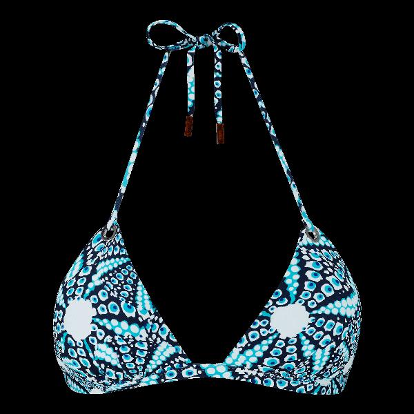 Vilebrequin Women Swimwear - Women Triangle Bikini Top Oursinade - Swimwear - Felina In Blue
