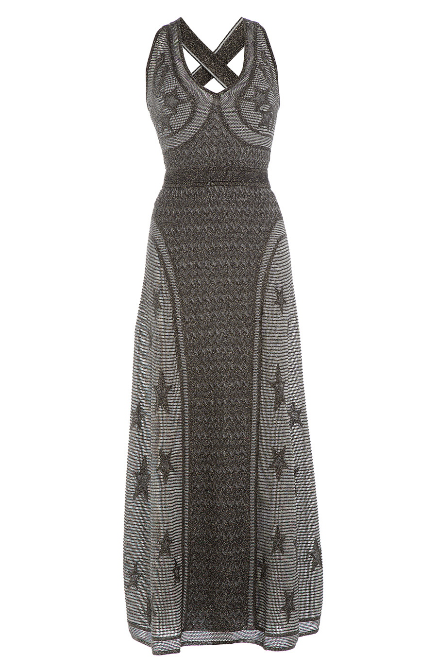 c70d108867b7 M Missoni Crochet Knit Maxi Dress With Metallic Thread In Multicolored