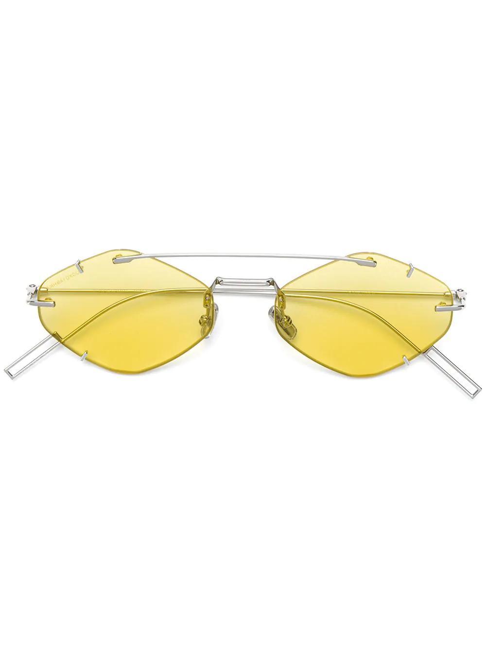 565fd0e8329b Dior Geometric Shaped Sunglasses In Silver | ModeSens