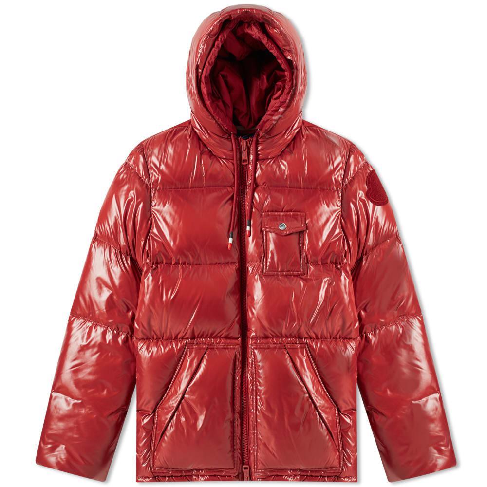 afa501875 Moncler Genius 2 Moncler 1952 Apremont Hooded Down Jacket in Red