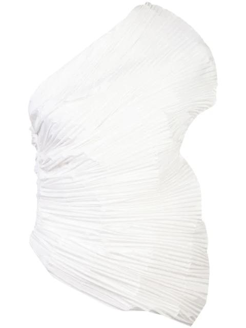 Rosie Assoulin One-shoulder Blouse White