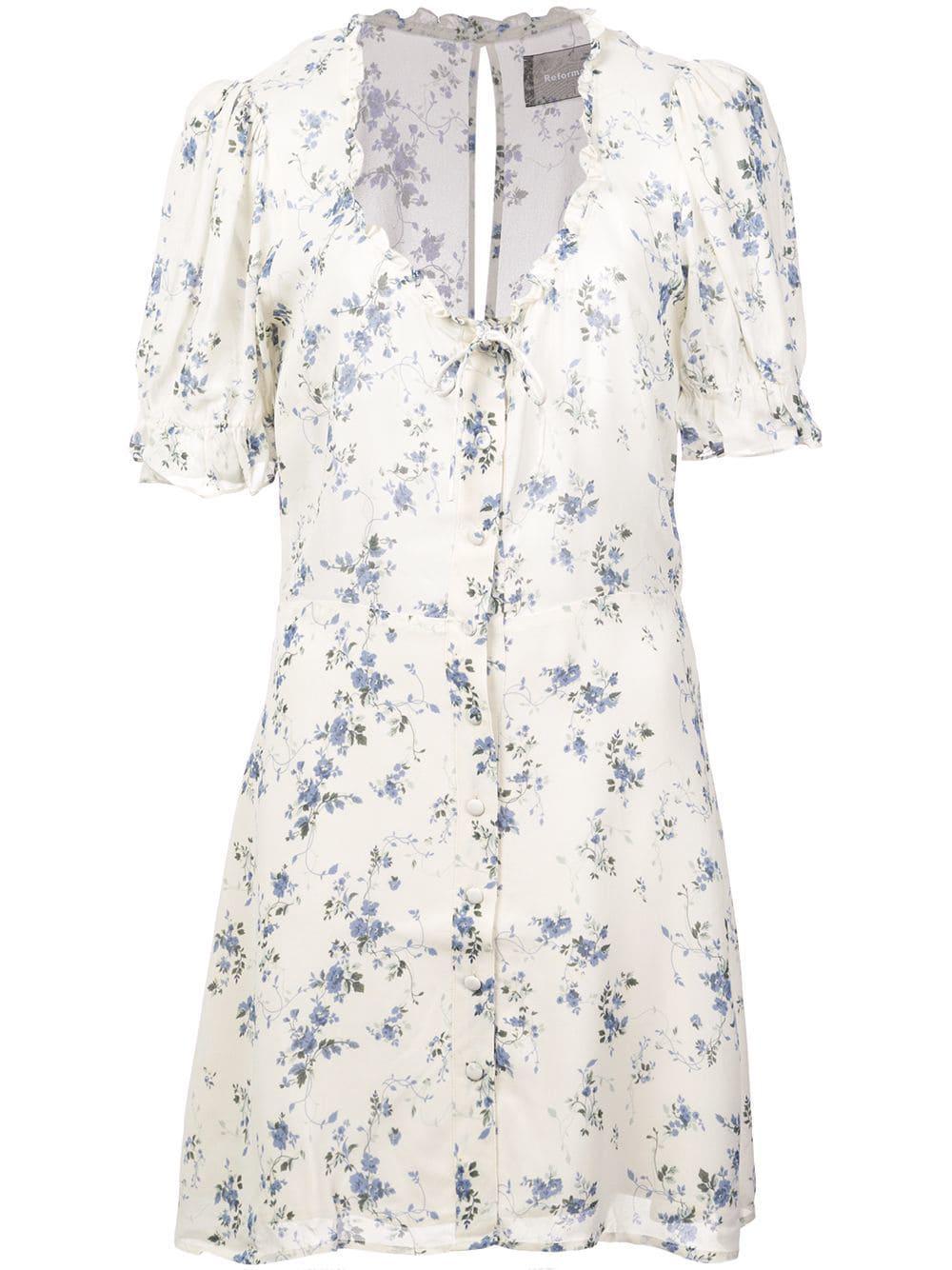 009083b90b9 Reformation Page Dress - White