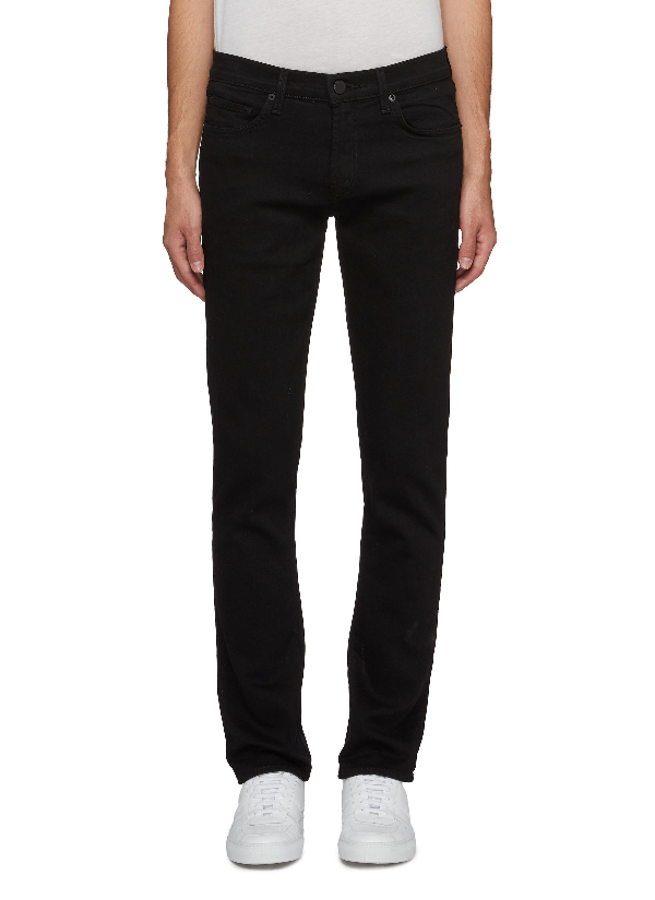 J Brand Tyler Slim Fit Coated Jeans In Abalone