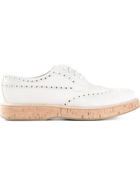 Church's Cork Effect Sole Perforated Brogues In White