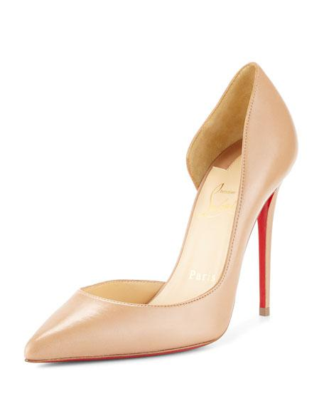 best service cb1d7 5a220 Apostrophy Pointed Red-Sole Pump in Beige