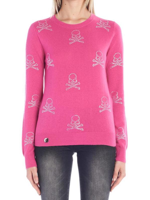 Philipp Plein Skull Sweater In Pink