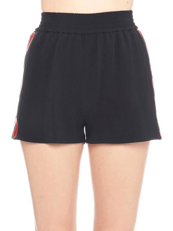 Stella Mccartney Side Logo Shorts In Black