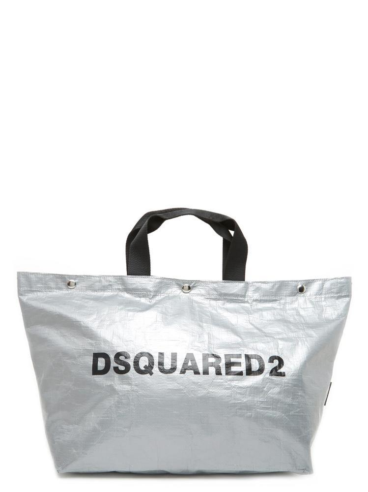 db9d6f31e38391 Dsquared2 Logo Oversized Tote Bag In Silver | ModeSens