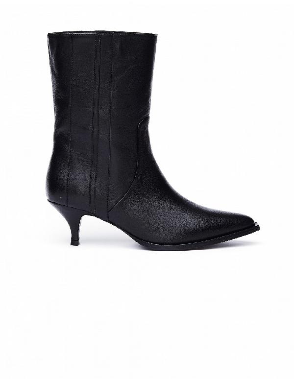 A.F.Vandevorst Black Leather Ankle Boots