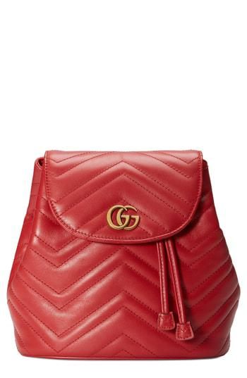 430661646d5d Gucci Gg Marmont 2.0 Matelasse Leather Mini Backpack - White In Mystic White